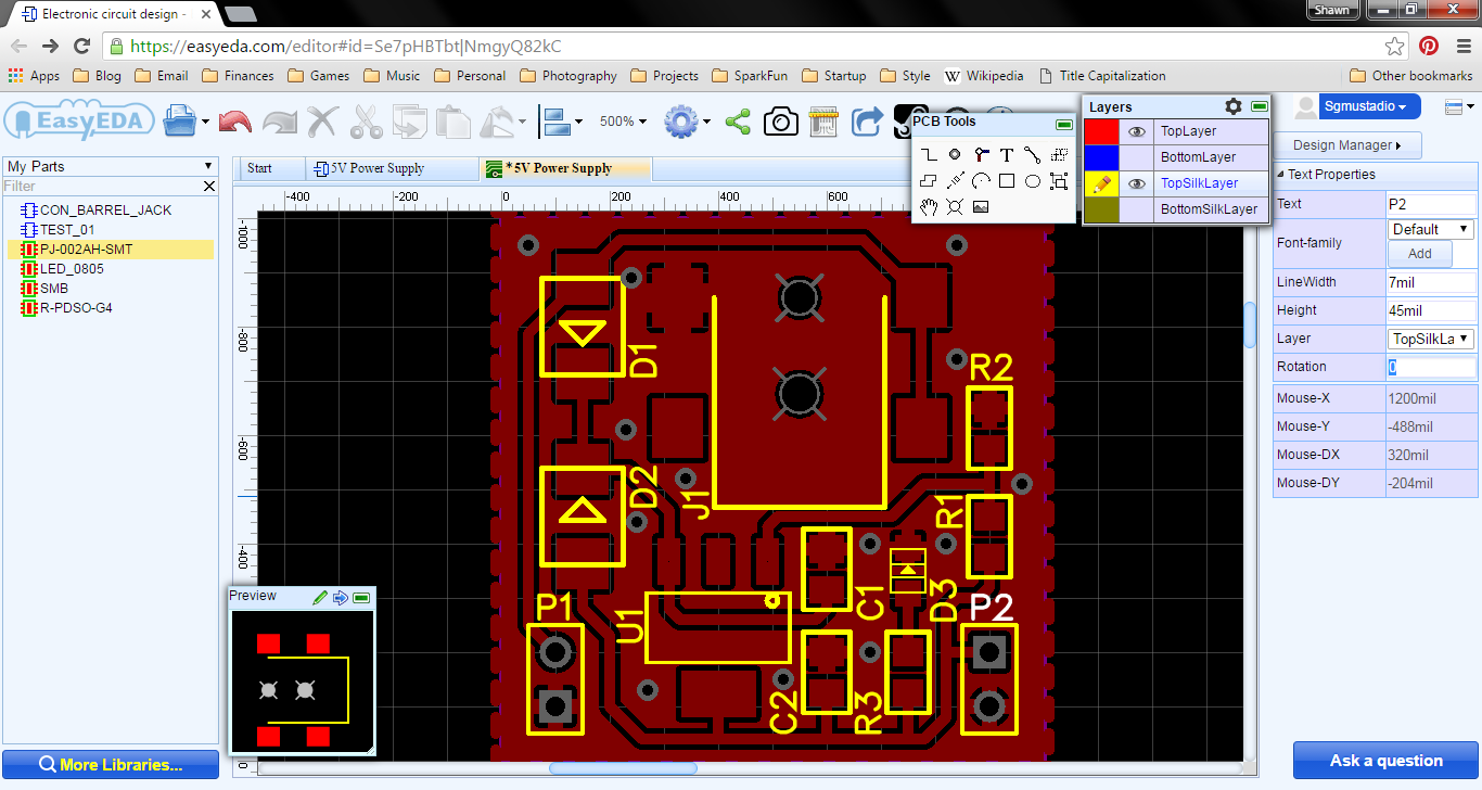 Getting Started with EasyEDA Part 3: PCB Layout – Shawn Hymel