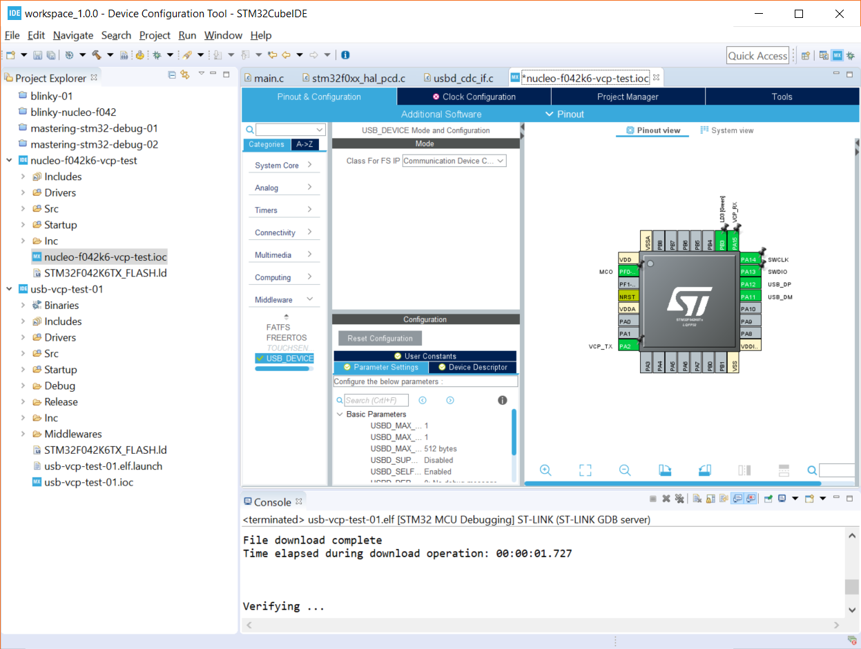 Getting Started with STM32 Nucleo USB (Virtual Com Port) – Shawn Hymel